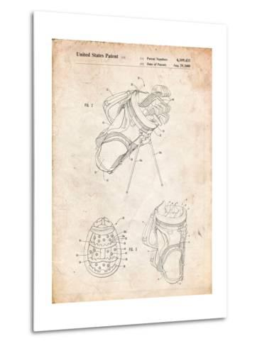 Golf Walking Bag Patent-Cole Borders-Metal Print