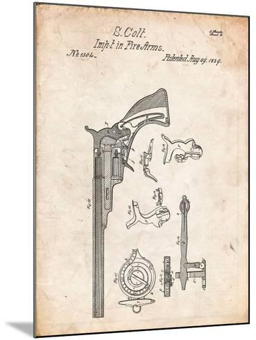 Colt Firearm Patent 1839-Cole Borders-Mounted Art Print