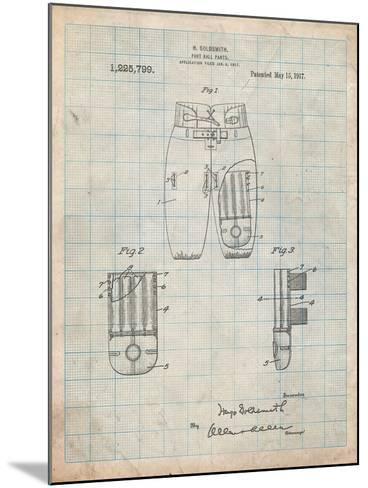 Football Pants Patent Print-Cole Borders-Mounted Art Print