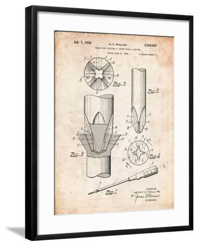 Phillips Screw Driver Patent-Cole Borders-Framed Art Print