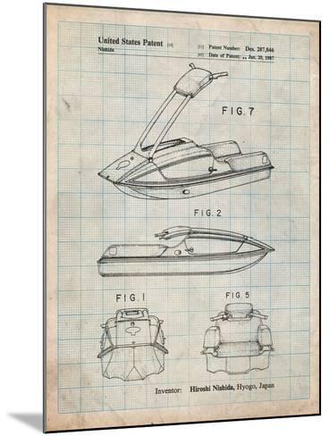 Suzuki Jet Ski Patent-Cole Borders-Mounted Art Print