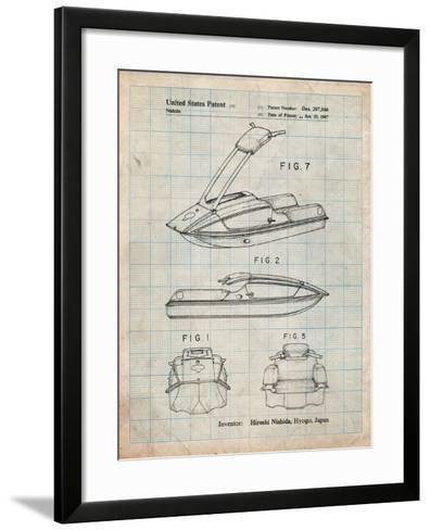 Suzuki Jet Ski Patent-Cole Borders-Framed Art Print