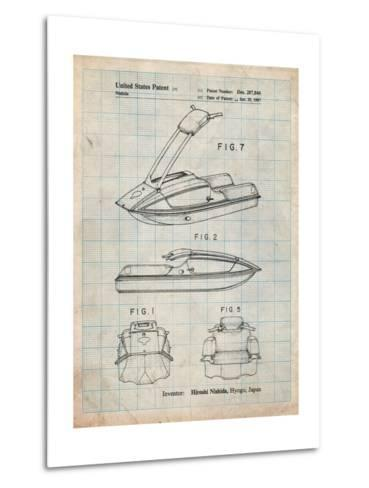 Suzuki Jet Ski Patent-Cole Borders-Metal Print