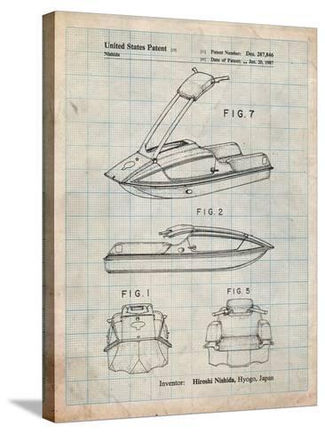 Suzuki Jet Ski Patent-Cole Borders-Stretched Canvas Print