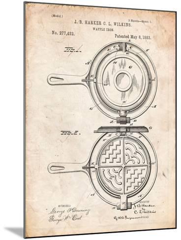 Waffle Iron Patent-Cole Borders-Mounted Art Print