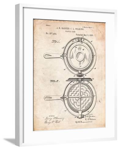 Waffle Iron Patent-Cole Borders-Framed Art Print