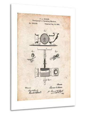 Thomas Edison Speaking Telegraph-Cole Borders-Metal Print