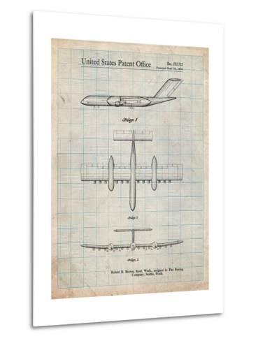 Boeing RC-1 Airplane Concept Patent-Cole Borders-Metal Print