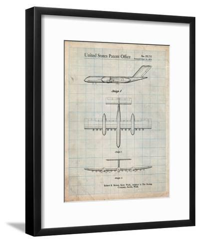 Boeing RC-1 Airplane Concept Patent-Cole Borders-Framed Art Print