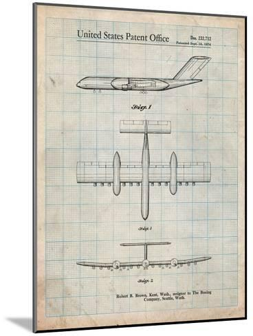 Boeing RC-1 Airplane Concept Patent-Cole Borders-Mounted Art Print