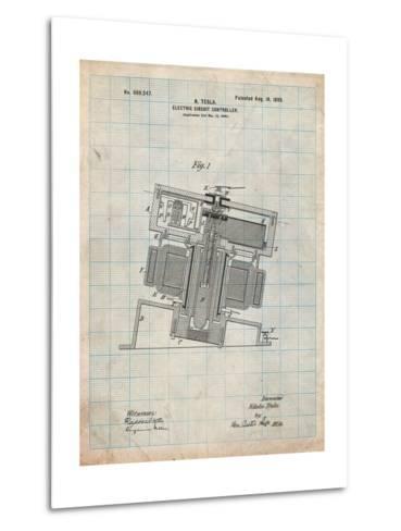 Tesla Electric Circuit Controller-Cole Borders-Metal Print