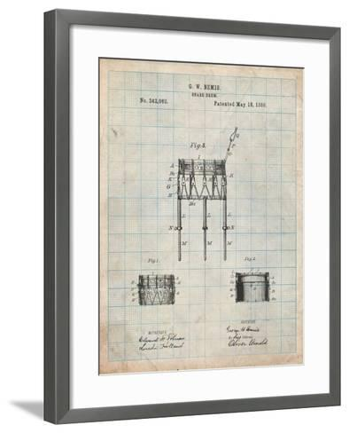 Bemis Marching Snare Drum and Stand Patent-Cole Borders-Framed Art Print
