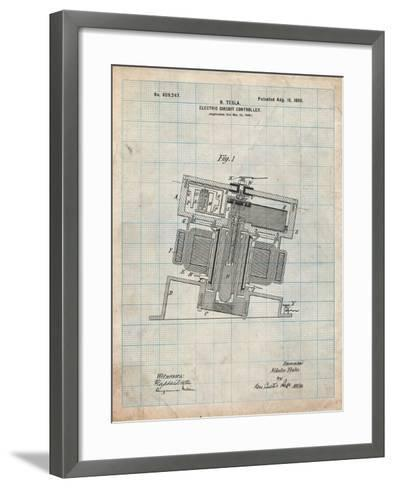 Tesla Electric Circuit Controller-Cole Borders-Framed Art Print