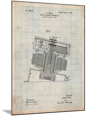 Tesla Electric Circuit Controller-Cole Borders-Mounted Art Print