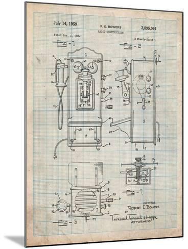 1950's Telephone Patent-Cole Borders-Mounted Art Print