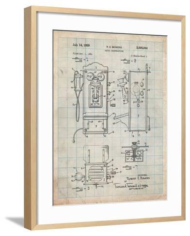 1950's Telephone Patent-Cole Borders-Framed Art Print