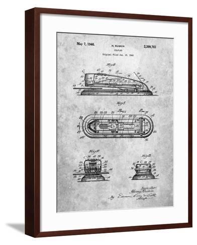Stapler Patent-Cole Borders-Framed Art Print