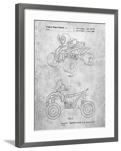 Kids 4-Wheeler-Cole Borders-Framed Art Print