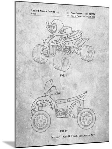 Kids 4-Wheeler-Cole Borders-Mounted Art Print