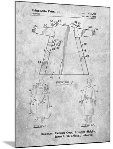 Surgical Gown Patent Print-Cole Borders-Mounted Art Print