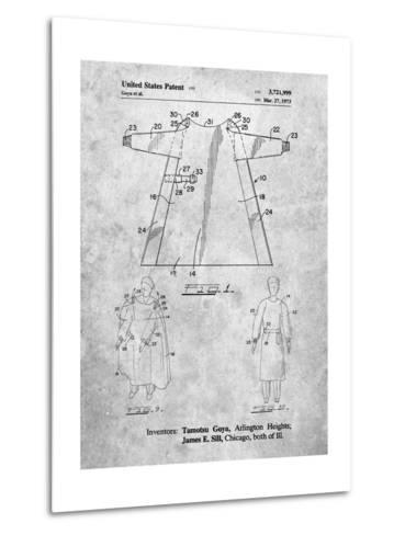 Surgical Gown Patent Print-Cole Borders-Metal Print