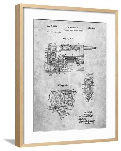Milwaukee Portable Jig Saw Patent-Cole Borders-Framed Art Print