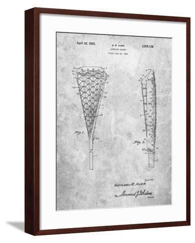 Lacrosse Stick 1935 Patent-Cole Borders-Framed Art Print