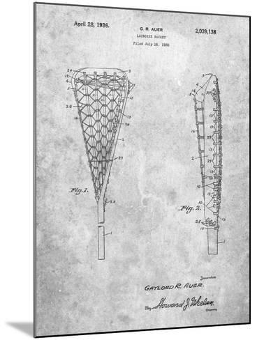 Lacrosse Stick 1935 Patent-Cole Borders-Mounted Art Print
