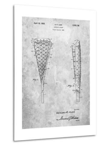Lacrosse Stick 1935 Patent-Cole Borders-Metal Print