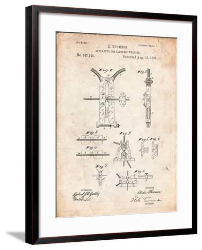 Welding Machine Patent-Cole Borders-Framed Art Print