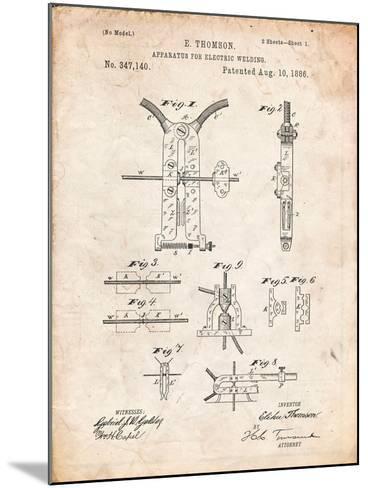 Welding Machine Patent-Cole Borders-Mounted Art Print