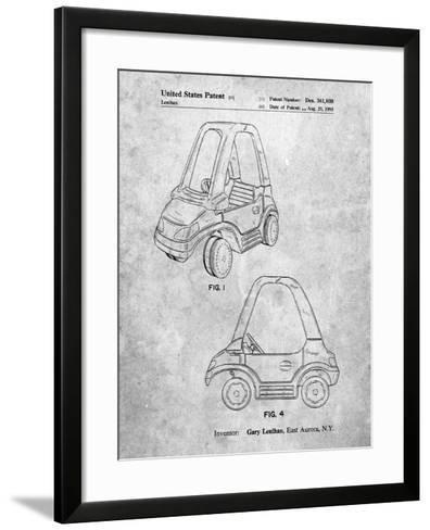 Fisher Price Toy Car Patent-Cole Borders-Framed Art Print