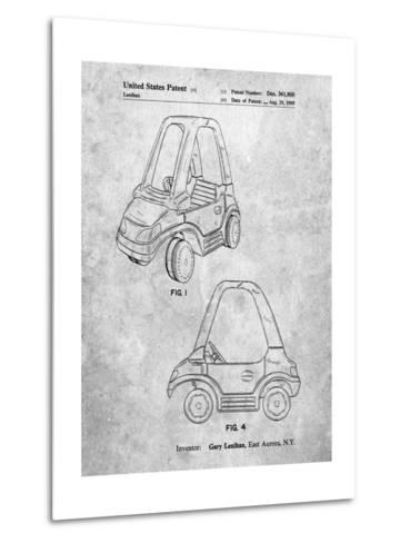 Fisher Price Toy Car Patent-Cole Borders-Metal Print