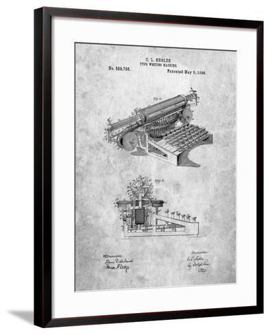 Last Sholes Typewriter Patent-Cole Borders-Framed Art Print