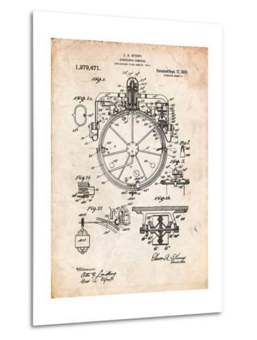 Compass Patent 1918-Cole Borders-Metal Print