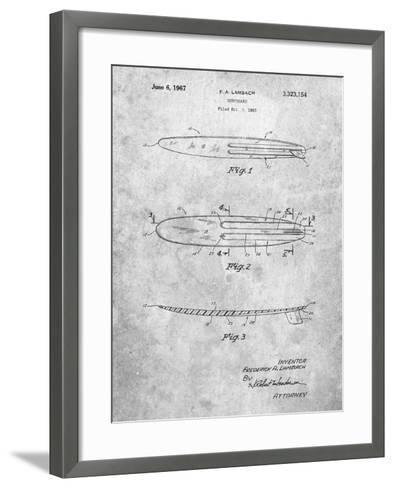 Surfboard 1965 Patent-Cole Borders-Framed Art Print