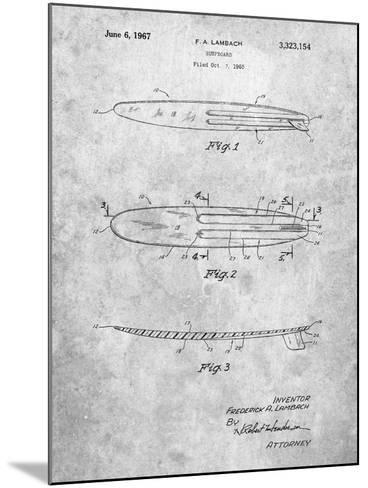 Surfboard 1965 Patent-Cole Borders-Mounted Art Print