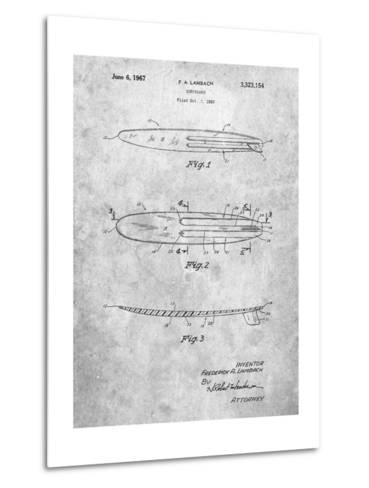 Surfboard 1965 Patent-Cole Borders-Metal Print