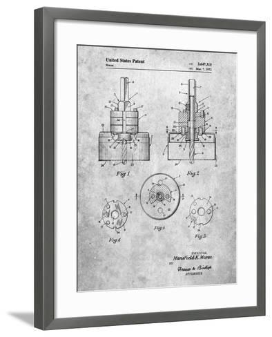 Hole Saw Patent-Cole Borders-Framed Art Print