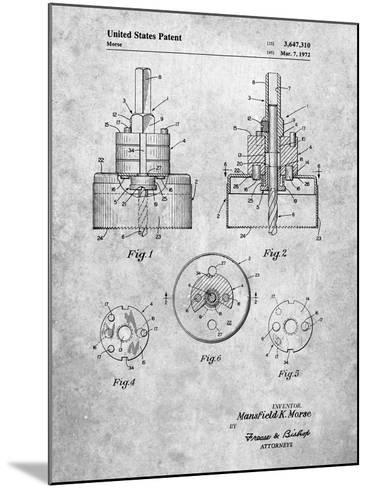 Hole Saw Patent-Cole Borders-Mounted Art Print