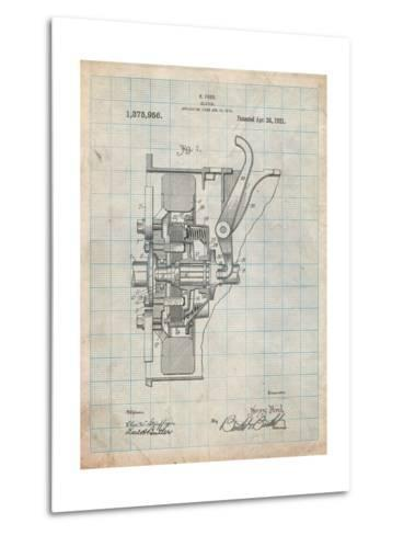 Ford Clutch Patent-Cole Borders-Metal Print