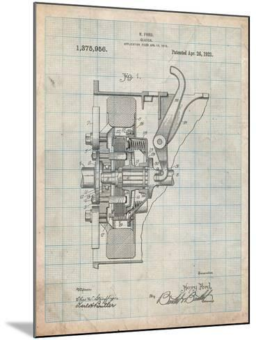 Ford Clutch Patent-Cole Borders-Mounted Art Print