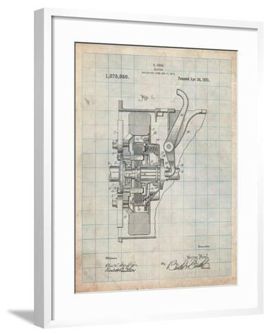 Ford Clutch Patent-Cole Borders-Framed Art Print