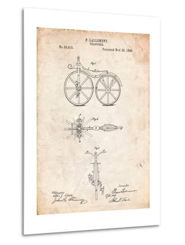 First Bicycle Patent-Cole Borders-Metal Print