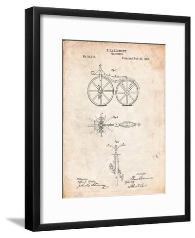First Bicycle Patent-Cole Borders-Framed Art Print