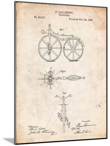 First Bicycle Patent-Cole Borders-Mounted Art Print