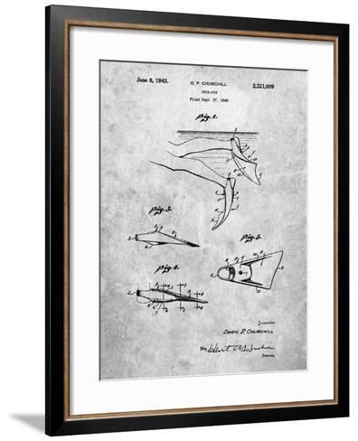 Swim Fins Patent-Cole Borders-Framed Art Print