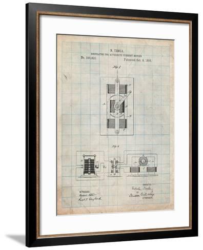 Tesla Regulator for Alternate Current Motor Patent-Cole Borders-Framed Art Print
