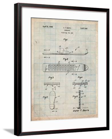 Berta Magnetic Boot Snowboard Patent-Cole Borders-Framed Art Print
