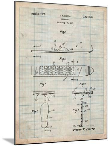 Berta Magnetic Boot Snowboard Patent-Cole Borders-Mounted Art Print